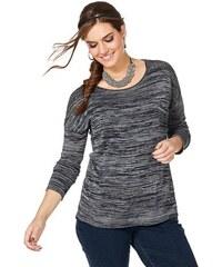 SHEEGO TREND Damen Trend Pullover mit Nietenbesatz grau 40/42,44/46,48/50,52/54,56/58