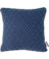 Tom Tailor Kissen Knitting Diamond (1 Stück) blau 45x45 cm