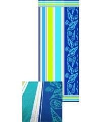 Strandtuch Muschel mit Muschelmotiven Dyckhoff blau 1xStrandtuch 75x150 cm