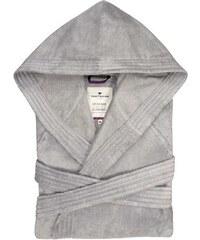 Unisex-Bademantel Velours mit Kapuze Tom Tailor grau L,M,XL,XXL