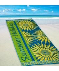 Dyckhoff Strandtuch Summer Holiday mit Sonnenmotiven grün 1xStrandtuch 80x180 cm