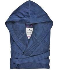 Tom Tailor Unisex-Bademantel Velours mit Kapuze blau L,M,XL,XXL