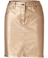 ASHLEY BROOKE Damen Bodyform-Jeansrock orange 34,36,38,40,42,44,46