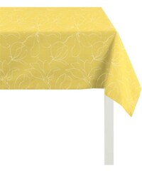 Tischdecke 4887 Jacquard Uni APELT gelb 90x90 cm