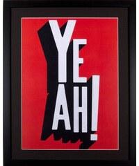 HOME AFFAIRE gerahmter Kunstdruck YEAH 43/53 cm schwarz