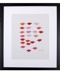 PREMIUM COLLECTION BY HOME AFFAIRE Premium collection by gerahmter Kunstdruck Andy Warhol Schöne rote Lippen 33/43 cm weiß