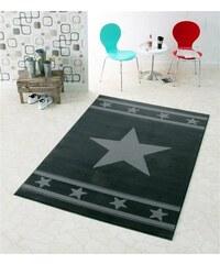 HANSE HOME Design Teppich Stern Trend modern gewebt grau 3 (B/L: 140x200 cm)