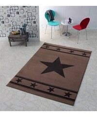 HANSE HOME Design Teppich Stern Trend modern gewebt braun 3 (B/L: 140x200 cm)