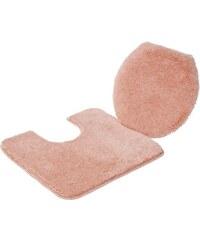 GRUND Badematte Grund Stand WC-Set COMFORT Höhe 24 mm rutschhemmender Rücken rosa 9 (2-tlg. Stand-WC-Set cm)