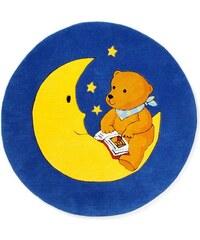 DER MONDBÄR Teppich Mondbär MO-1337 handgetuftet Konturenschnitt Brilliante Farben Rund gelb 9 (Ø 130 cm)