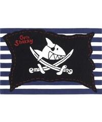 Capt'n Sharky Kinder-Teppich Capt n Sharky H-2991-01 handgetuftet Konturenschnitt schwarz 2 (B/L: 110x170 cm),3 (B/L: 130x190 cm),4 (B/L: 150x220 cm)