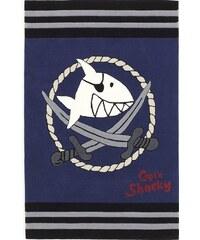 Kinder-Teppich Capt n Sharky SH-2937-01 handgetuftet Konturenschnitt Capt'n Sharky blau 2 (B/L: 110x170 cm),3 (B/L: 130x190 cm),4 (B/L: 150x220 cm)