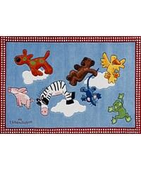 Die Lieben Sieben Teppich Die Lieben Sieben -2198-01 handgetuftet Konturenschnitt Brilliante Farben blau 3 (B/L: 130x190 cm),4 (B/L: 150x220 cm)