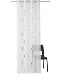 Gardine Tayma (1 Stück) MY HOME weiß 1 (H/B: 145/140 cm),2 (H/B: 175/140 cm),3 (H/B: 225/140 cm),4 (H/B: 245/140 cm)