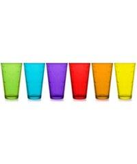 Domestic Mäser Longdrinkbecher Glas (6er Set) bunt