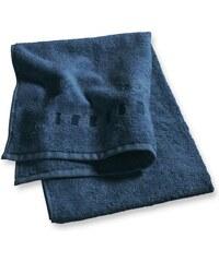 Esprit Home Badetuch Solid mit Bordüre aus Rechtecken blau 1xBadetuch 70x140 cm