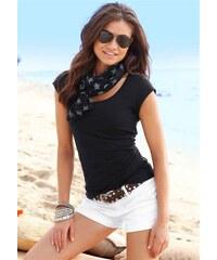 Beachtime Damen Set: Shirt und Schal schwarz 32/34,36/38,40/42,44/46