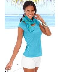 Beachtime Damen Set: Shirt und Schal blau 32/34,36/38,40/42,44/46