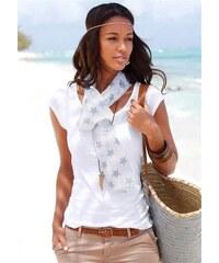 Beachtime Damen Set: Shirt und Schal weiß 32/34,36/38,40/42,44/46