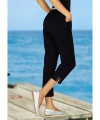 Ambria Damen Hose mit dekorativer Nietenverzierung am Fußschlitz schwarz 36,38,40,42,44,46,48,50