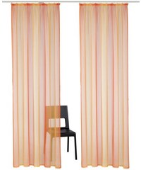 Gardine Rino (2 Stück) MY HOME orange 1 (H/B: 145/140 cm),2 (H/B: 175/140 cm),3 (H/B: 225/140 cm),4 (H/B: 245/140 cm)