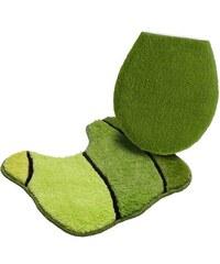 Badematte Stand WC-Set Calamba Höhe 20 mm rutschhemmender Rücken MY HOME grün 9 (2-tlg. Stand WC Set)