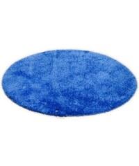 Tom Tailor Hochflor-Teppich rund Soft Höhe 30 mm handgearbeitet blau 9 (Ø 140 cm)