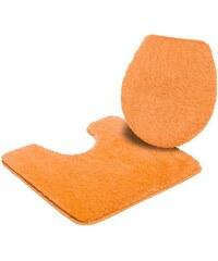 Badematte Stand WC-Set Merida Höhe 32 mm rutschhemmender Rücken MY HOME gelb 9 (2-tlg.Stand-WC-Set)