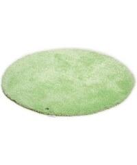 Hochflor-Teppich rund Soft Höhe 30 mm handgearbeitet Tom Tailor grün 9 (Ø 140 cm)