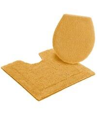 HOME AFFAIRE COLLECTION Badematte Stand WC-Set Collection Kapra beidseitig verwendbar Bio Baumwolle gelb 9 (2-tlg.Stand-WC-Set)