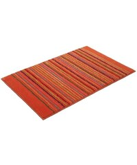 Badematte Cool Stripes Höhe ca. 10mm rutschhemmender Rücken Esprit orange 1 (55x65 cm),3 (60x100 cm),4 (70x120 cm)