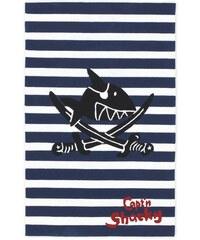 Capt'n Sharky Kinder-Teppich Capt n Sharky SH-2361-01 handgetuftet Konturenschnitt blau 1 (B/L: 70x140 cm),2 (B/L: 80x150 cm),3 (B/L: 110x170 cm)