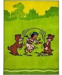 Kinder-Teppich Regenbogen und Bären Yakari grün 2 (B/L: 80x150 cm),3 (B/L: 133x180 cm)