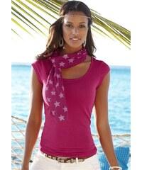 Beachtime Damen Shirt mit Schal (2-tlg.) rosa 32/34,36/38,40/42,44/46
