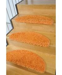 LIVING LINE Stufenmatte Living Line Amarillo Hochflor 15 Stück orange 22 (15er-Set)