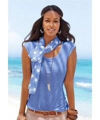 Beachtime Damen Shirt mit Schal (2-tlg.) lila 36/38,40/42,44/46