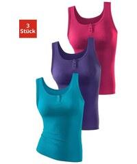 Damen Doppelripp-Achselhemd (3 Stück) H.I.S Farb-Set 32/34,36/38,40/42,44/46,48/50