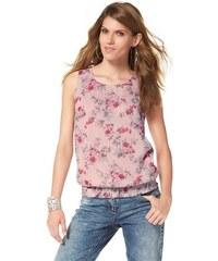 Aniston Damen Blusentop mit Blumenprint rosa 34,36,38,40,42,44