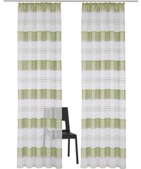 HOME WOHNIDEEN Gardine CAMPOS (2 Stück) grün 1 (H/B: 145/140 cm),2 (H/B: 175/140 cm),3 (H/B: 225/140 cm),4 (H/B: 245/140 cm)