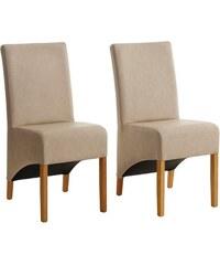 HOME AFFAIRE Stühle in 2er Set ohne Armlehnen in 4 Farben natur