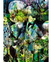 Fototapete Aphrodite s Garden 184/254 cm KOMAR grün