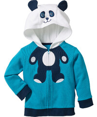 bpc bonprix collection Gilet sweat-shirt à capuche en coton bio bleu manches longues enfant - bonprix