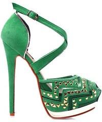 SERGIO TODZI Luxusní zelené semišové sandály 40