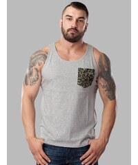 Carhartt Lambert A-Shirt Grey Heather Camo Style Green