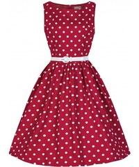 Retro šaty Lindy Bop Audrey Red Polka