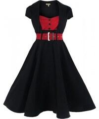 Retro šaty Lindy Bop Geneva Black