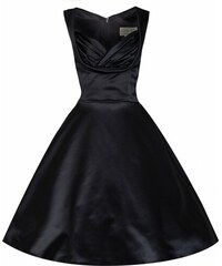 Retro šaty Lindy Bop Ophelia Black Satin