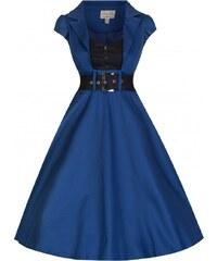 Retro šaty Lindy Bop Geneva Midnight Blue