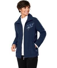 Classic Basics Fleece-Jacke mit Blüten-Stickerei