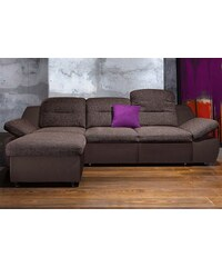 Polsterecke City Sofa wahlweise mit Bettfunktion CITY SOFA 3 (=cappuccino),41 (=grau),5 (=braun)